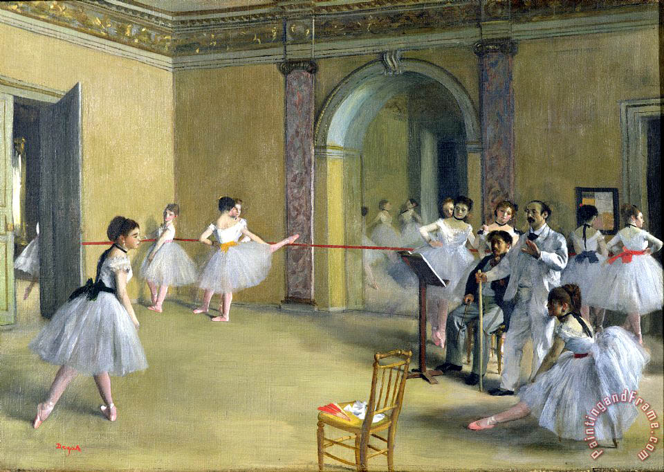 Edgar Degas The Dance Foyer at the Opera on the rue Le Peletier Art Painting