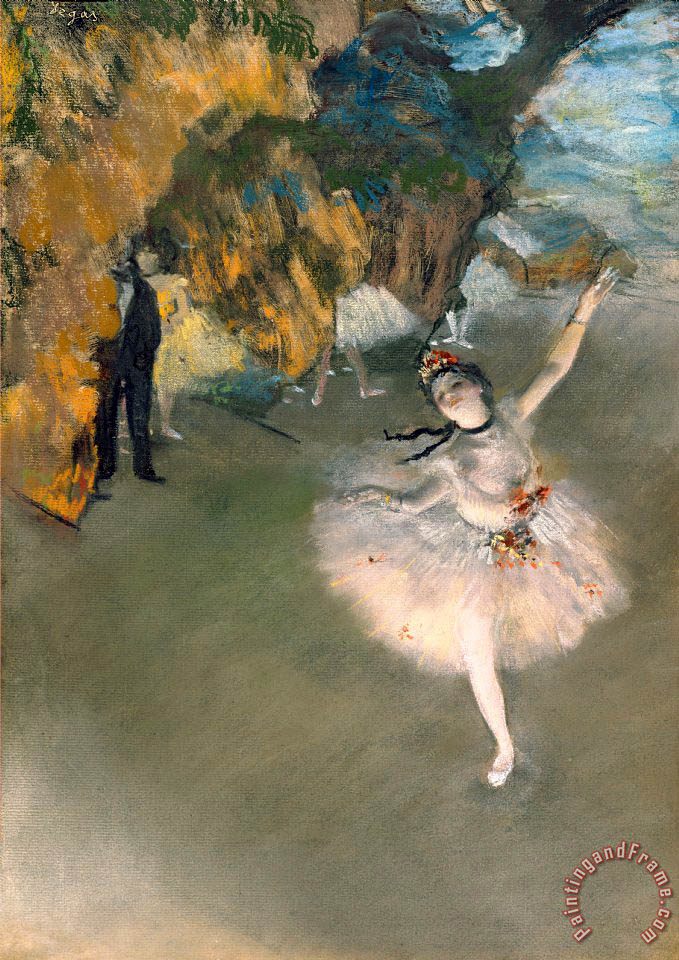 The Star Or Dancer On The Stage painting - Edgar Degas The Star Or Dancer On The Stage Art Print
