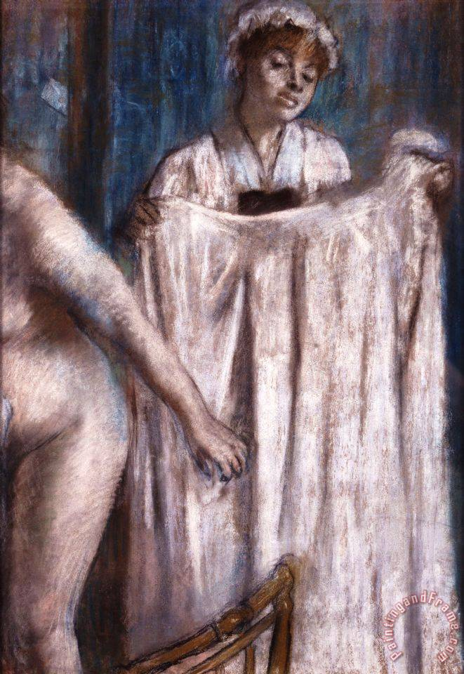 Toilette After The Bath painting - Edgar Degas Toilette After The Bath Art Print