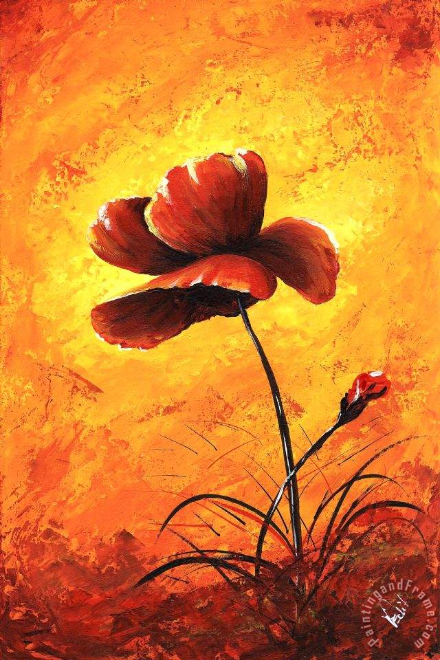 Edit voros my flowers red poppy painting my flowers red poppy my flowers red poppy painting edit voros my flowers red poppy art print mightylinksfo