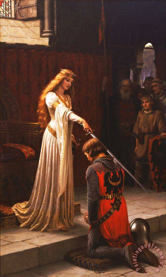 Edmund Blair Leighton The Accolade Painting The Accolade