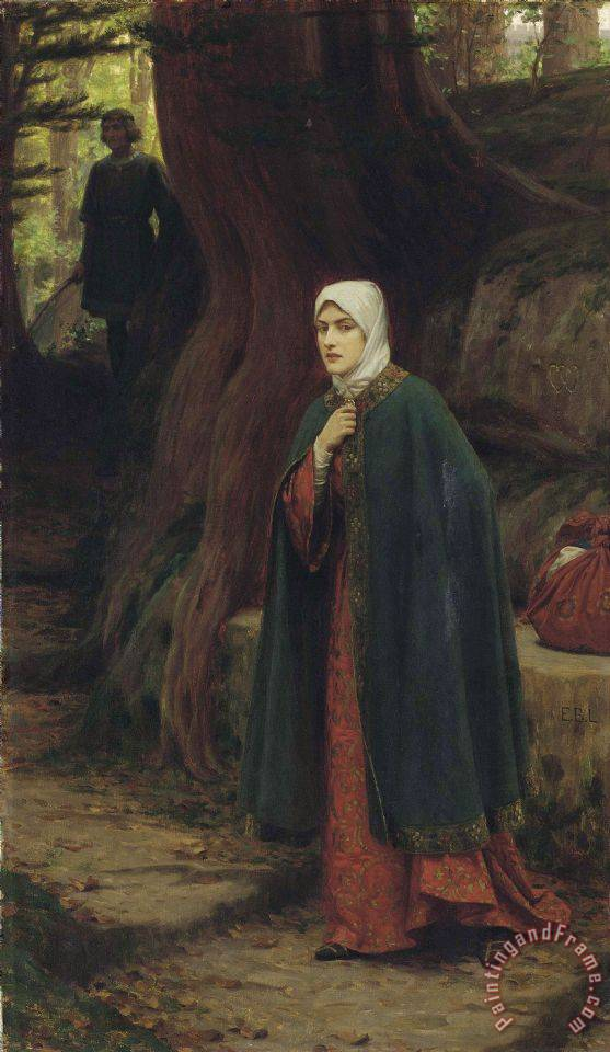 A Footstep painting - Edmund Blair Leighton A Footstep Art Print
