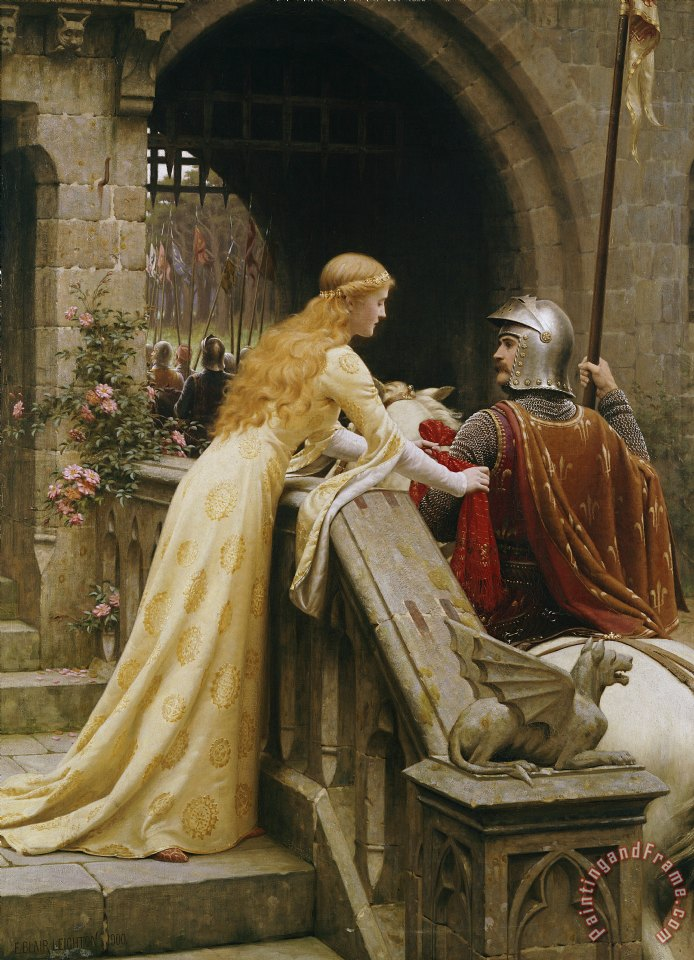 Edmund Blair Leighton God Speed Art Painting