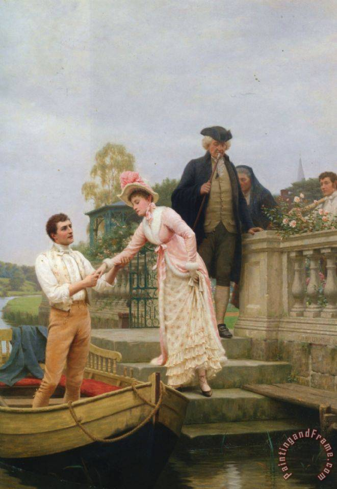 Lay Thy Sweet Hand in Mine And Trust in Me painting - Edmund Blair Leighton Lay Thy Sweet Hand in Mine And Trust in Me Art Print