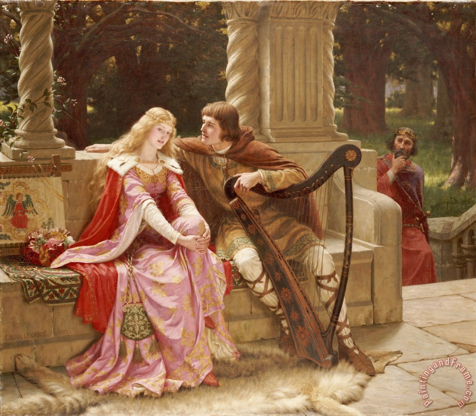 Edmund Blair Leighton The End of the Song Art Painting