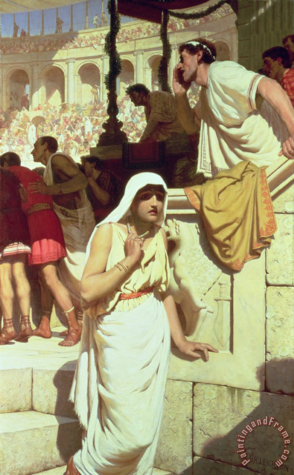 Edmund Blair Leighton The Gladiators Wife Art Print