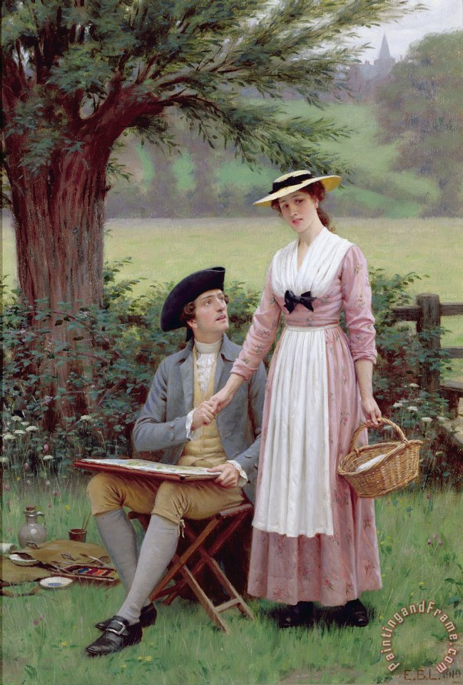 The Lord of Burleigh painting - Edmund Blair Leighton The Lord of Burleigh Art Print