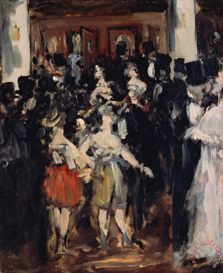 Masked Ball At The Opera painting - Edouard Manet Masked Ball At The Opera Art Print