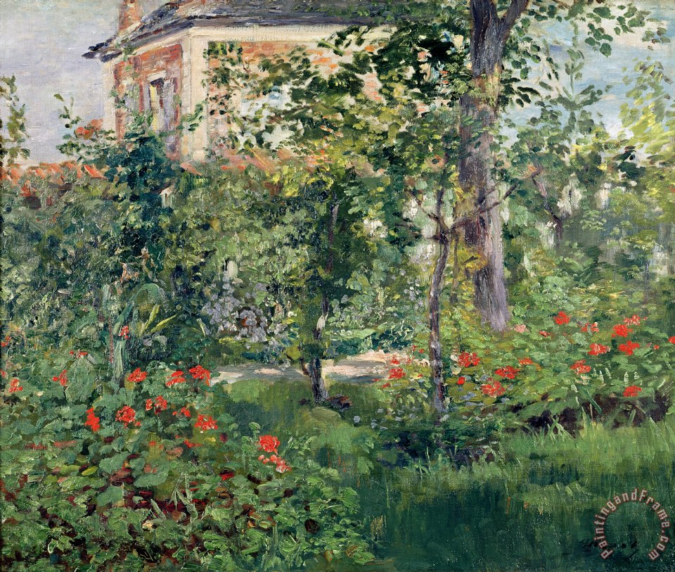 The Garden At Bellevue Painting   Edouard Manet The Garden At Bellevue Art  Print
