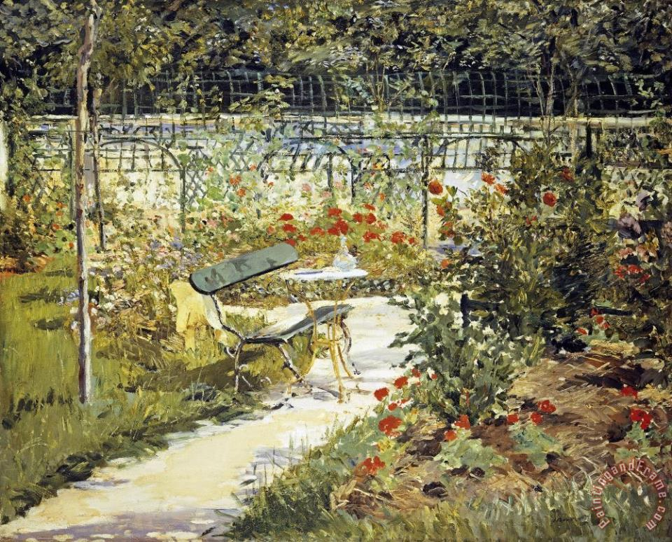 Edouard Manet The Garden of Manet Art Painting