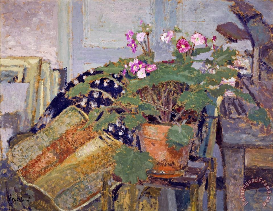 edouard vuillard le pot de fleurs pot of flowers. Black Bedroom Furniture Sets. Home Design Ideas