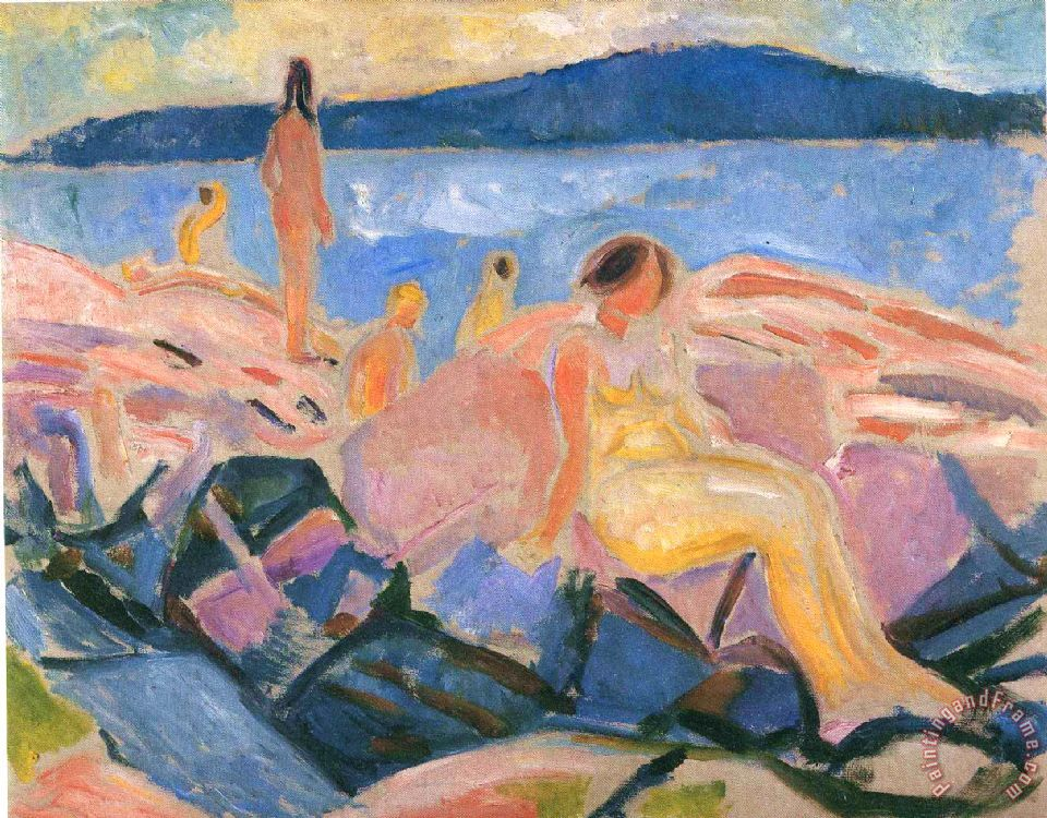 High Summer II 1915 painting - Edvard Munch High Summer II 1915 Art Print