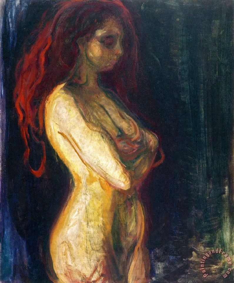 Edvard Munch Nude in Profile Towards The Right 1898 Art Painting