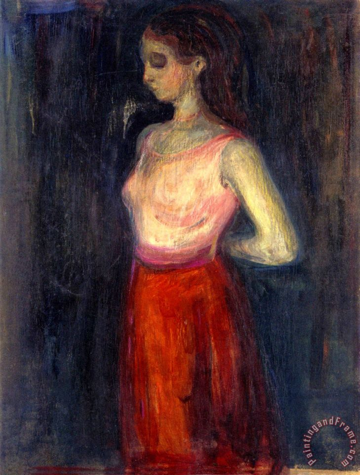 Study of a Model 1898 painting - Edvard Munch Study of a Model 1898 Art Print