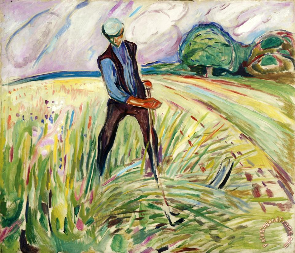 The Haymaker painting - Edvard Munch The Haymaker Art Print