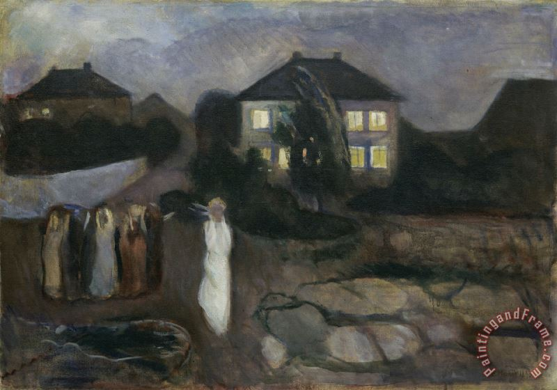 The Storm Moma painting - Edvard Munch The Storm Moma Art Print