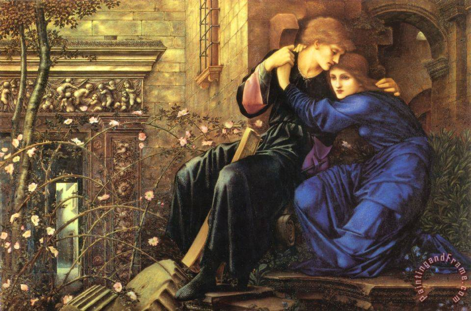 Edward Burne Jones Love Among The Ruins Art Painting