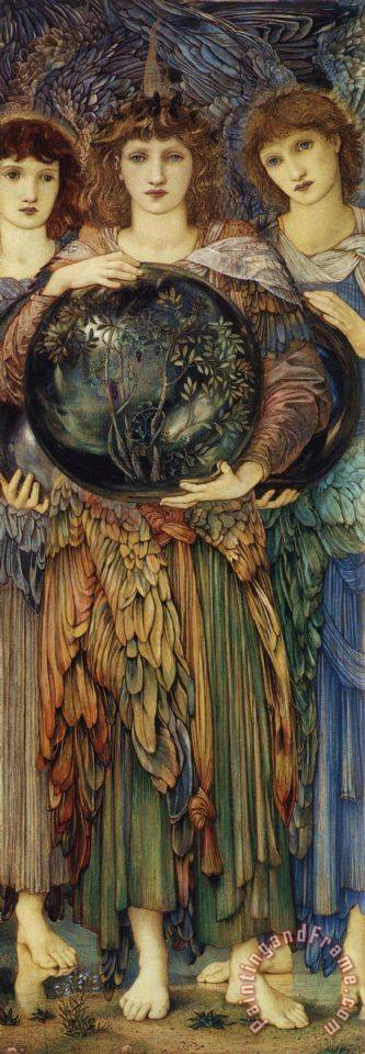 The Days of Creation The Third Day painting - Edward Burne Jones The Days of Creation The Third Day Art Print