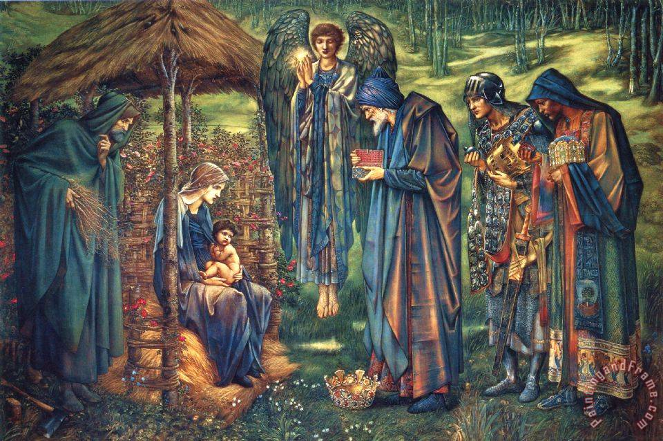 Edward Burne Jones The Star of Bethlehem Art Print