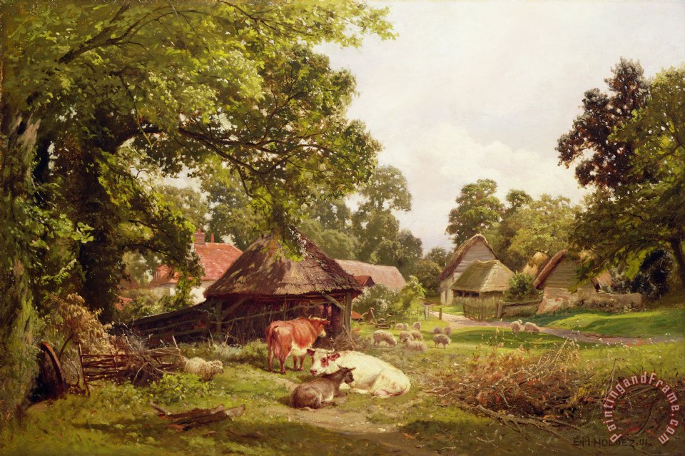 A Cottage Home in Surrey painting - Edward Henry Holder A Cottage Home in Surrey Art Print