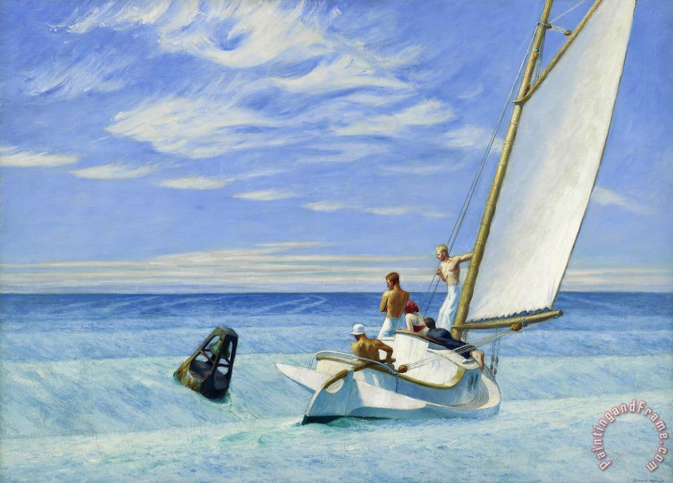 Ground Swell painting - Edward Hopper Ground Swell Art Print