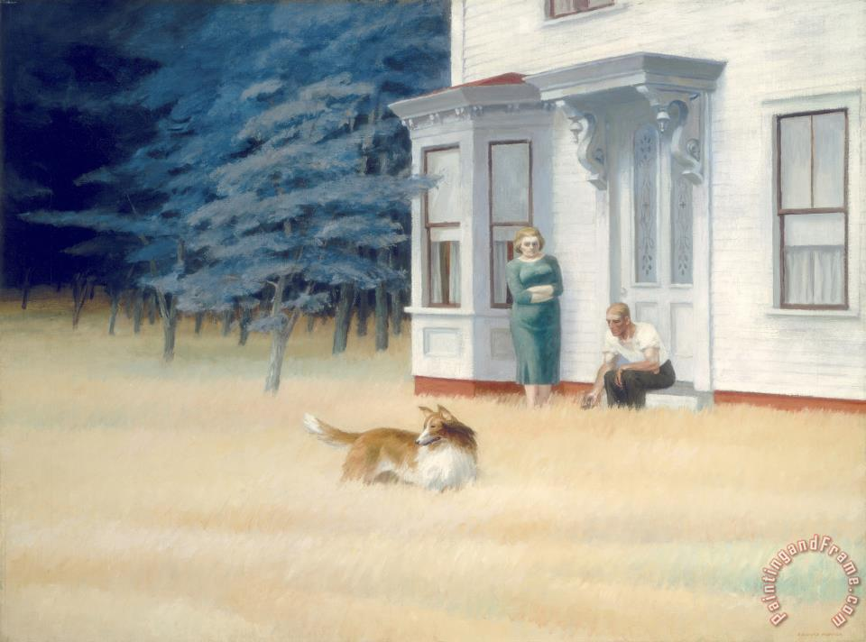 Cape Cod Evening Painting Edward Hopper Art Print