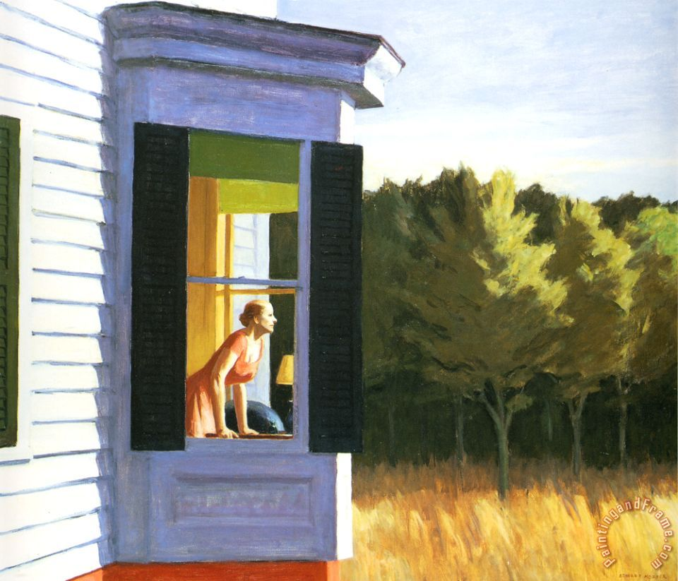 Edward Hopper Cape Cod Morning Painting Cape Cod Morning