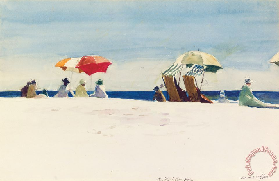 Edward Hopper Gloucester Beach Art Print