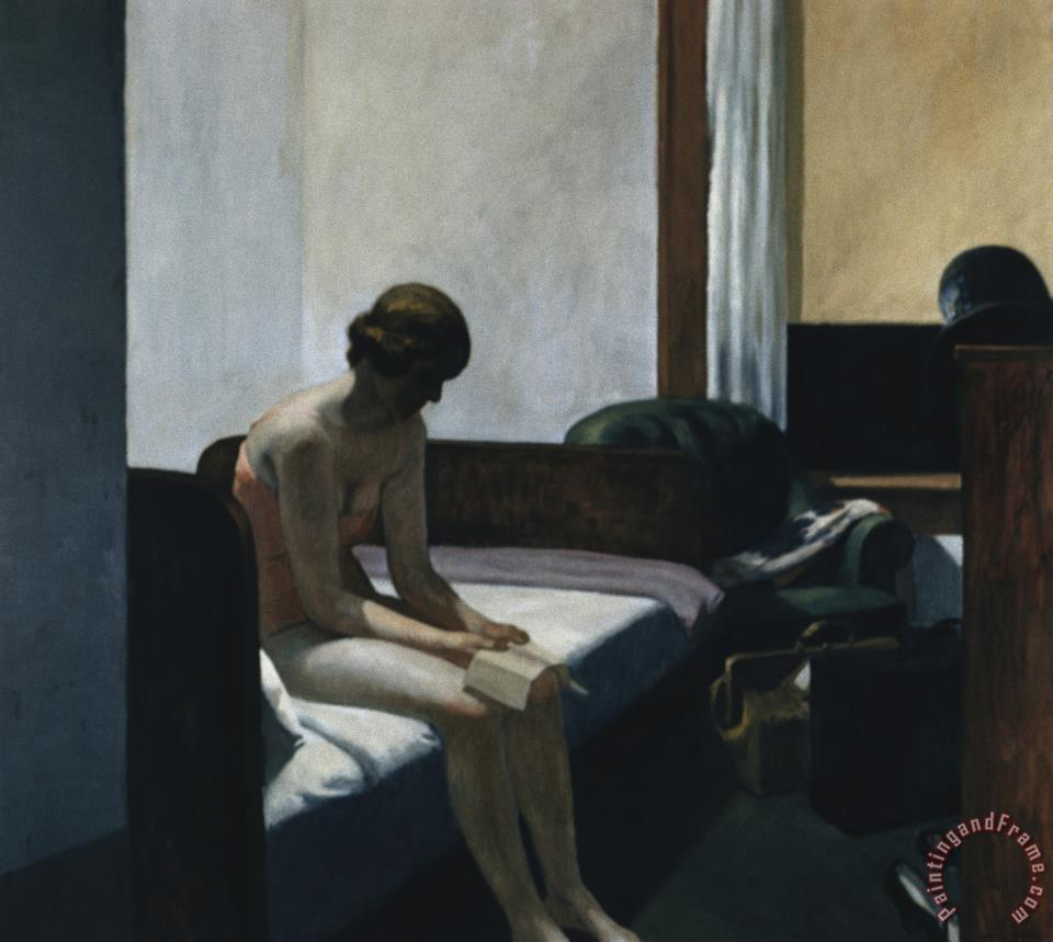Hotel Room painting - Edward Hopper Hotel Room Art Print