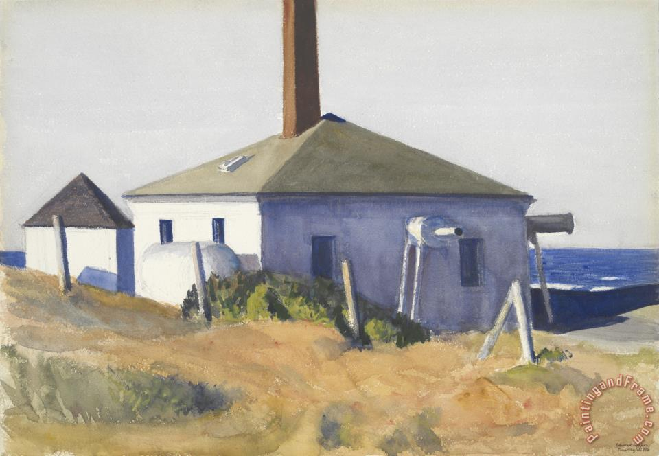 House of The Fog Horn, No. 3 painting - Edward Hopper House of The Fog Horn, No. 3 Art Print