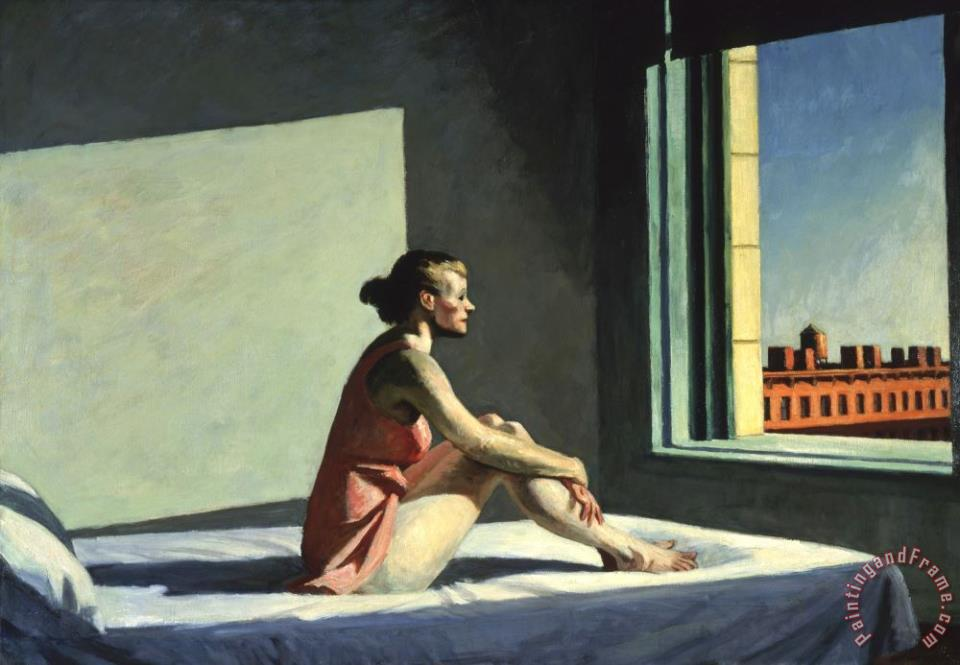 Morning Sun painting - Edward Hopper Morning Sun Art Print