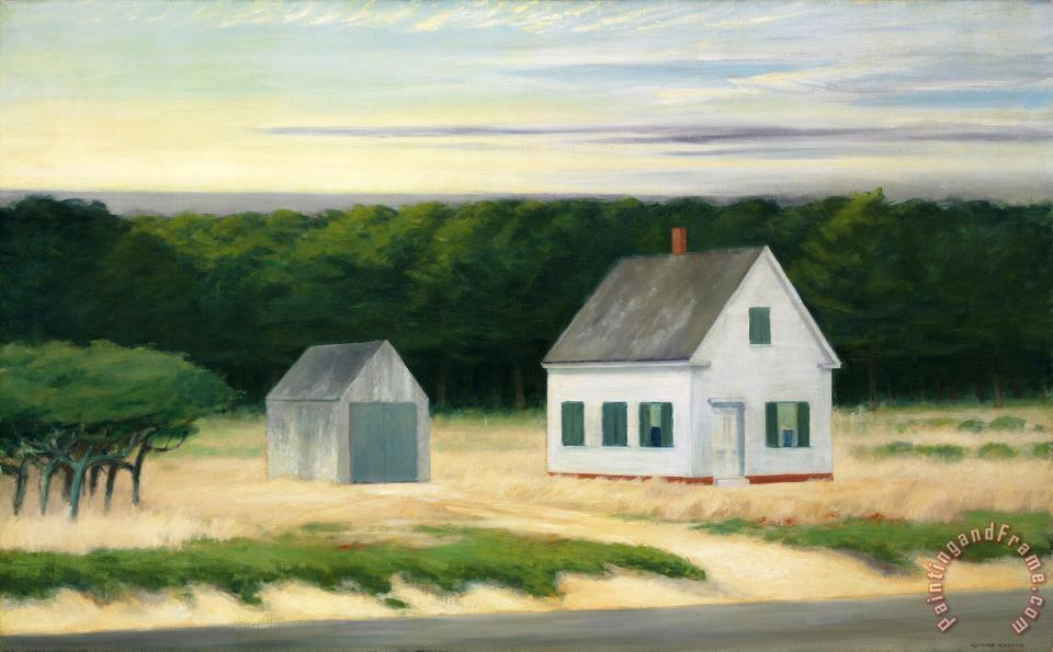 October On Cape Cod Painting Edward Hopper Art Print