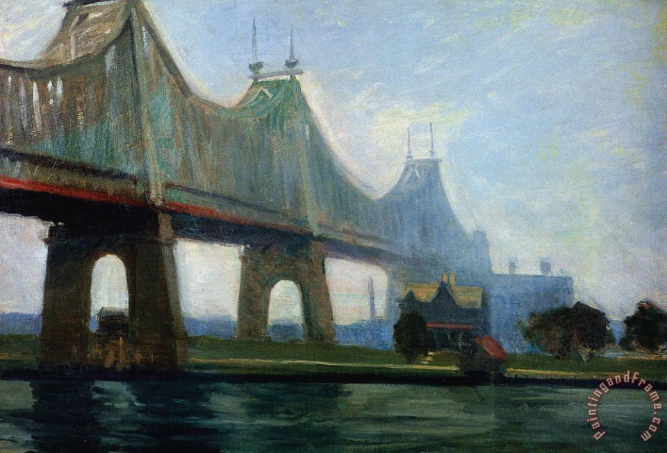 Edward Hopper Queensborough Bridge Art Print