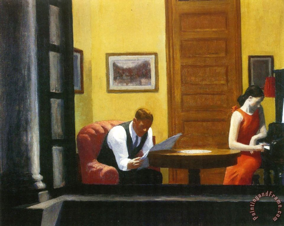 Edward Hopper Room In New York Painting Room In New York