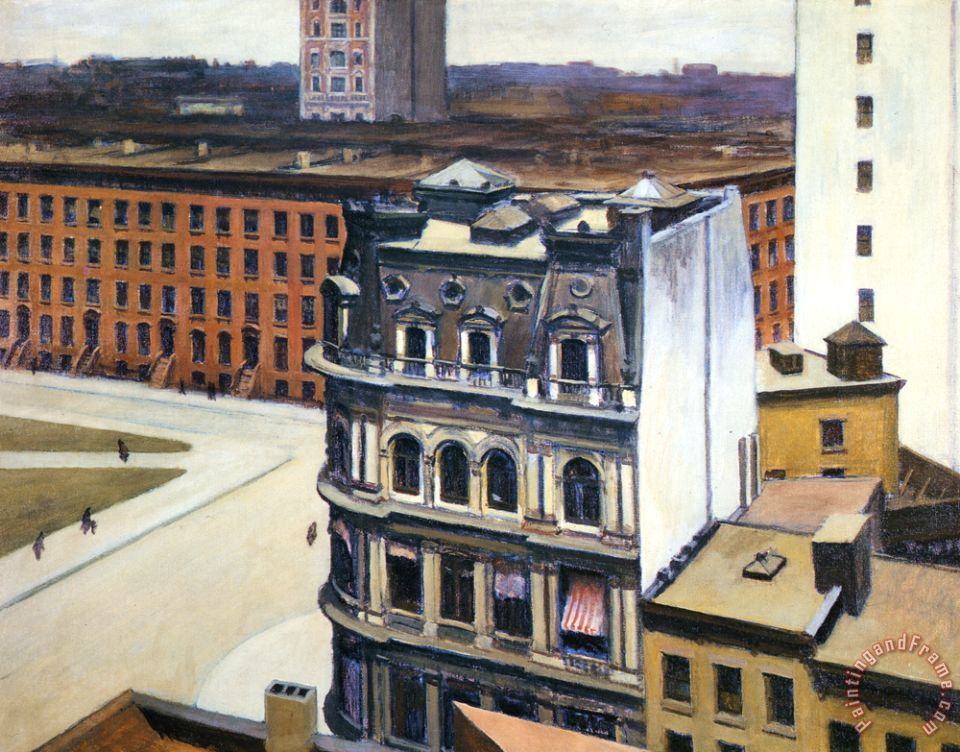 The City painting - Edward Hopper The City Art Print