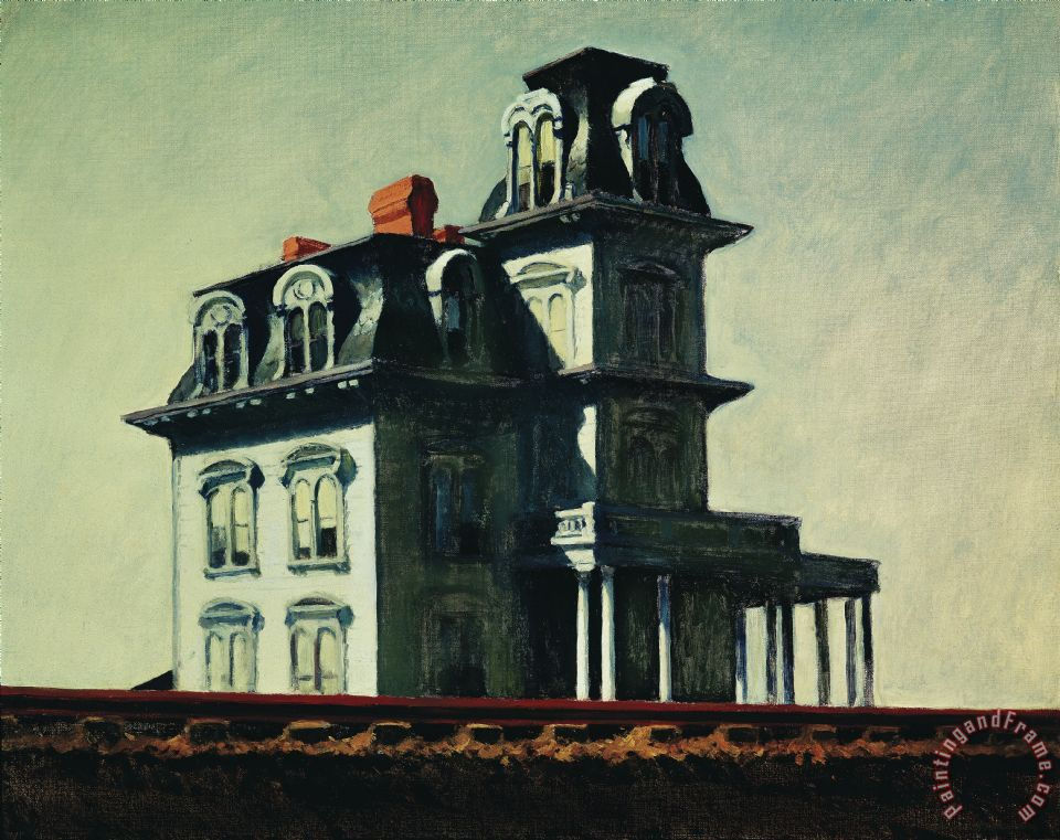 The House By The Railroad painting - Edward Hopper The House By The Railroad Art Print