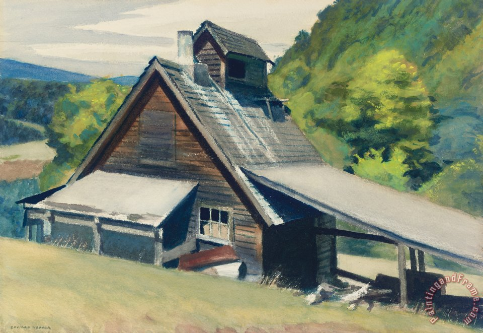 Vermont Sugar House painting - Edward Hopper Vermont Sugar House Art Print