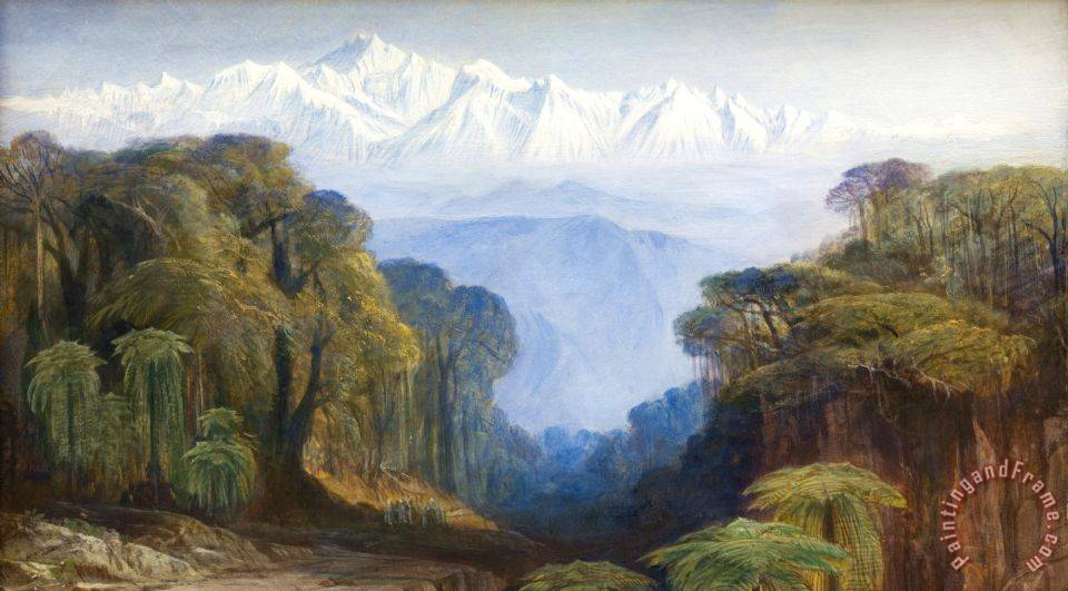Edward lear kinchinjunga painting kinchinjunga print for for Best way to sell paintings online