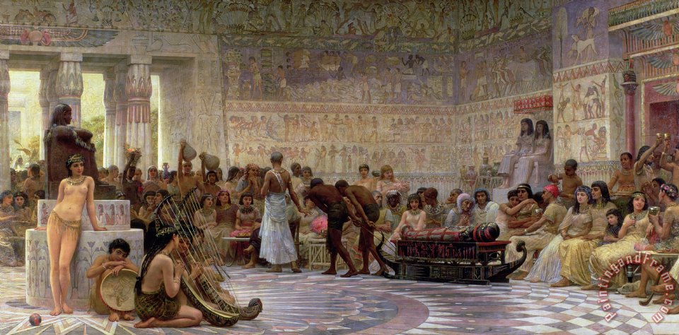 An Egyptian Feast painting - Edwin Longsden Long An Egyptian Feast Art Print