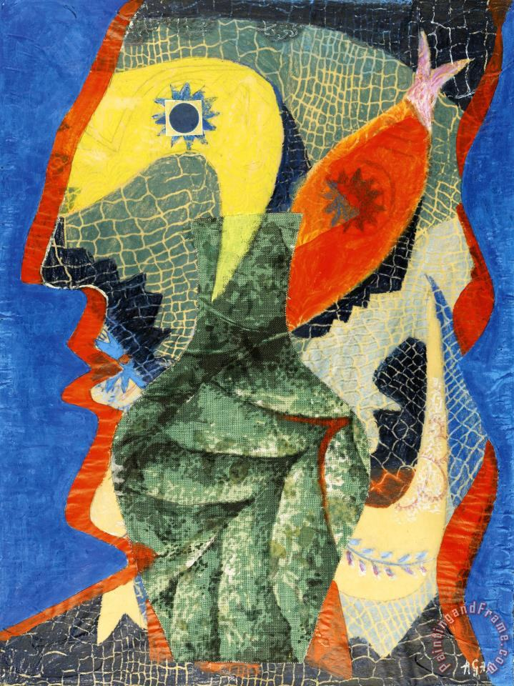 Fisherman painting - Eileen Agar Fisherman Art Print