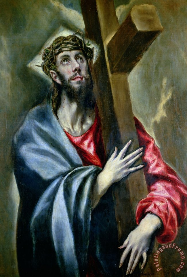 Jesus Christ On A Cross Painting By An Artist