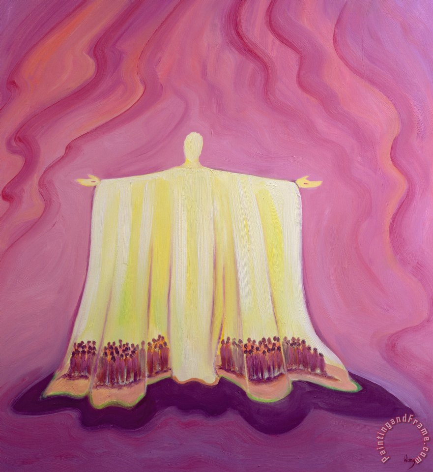 Elizabeth Wang Jesus Christ is like a tent which shelters us in life's desert Art Print