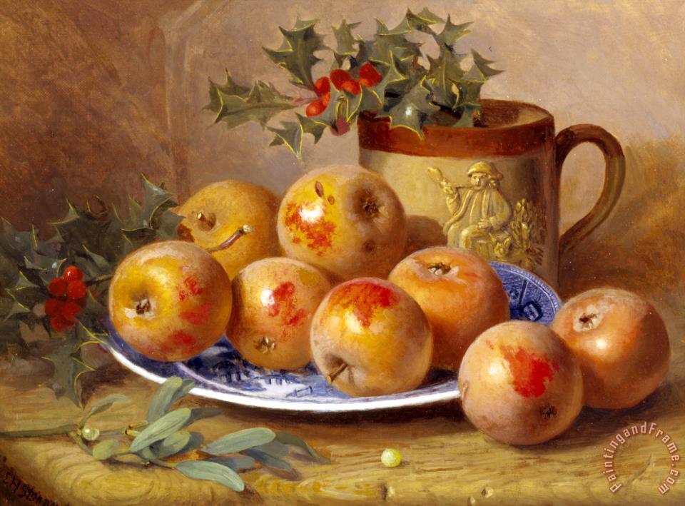 Eloise harriet stannard christmas still life painting
