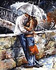 Which One Do You Love Best Prints - Rainy day - Love in the rain by Emerico Toth