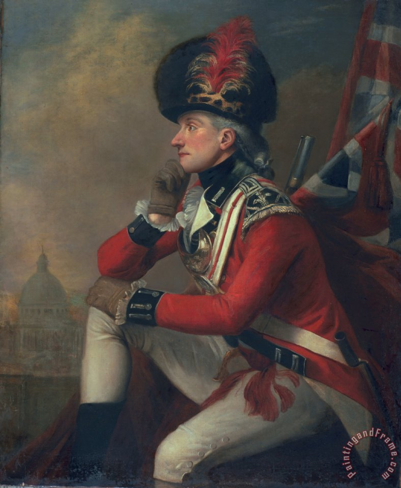 A soldier called Major John Andre painting - English School A soldier called Major John Andre Art Print