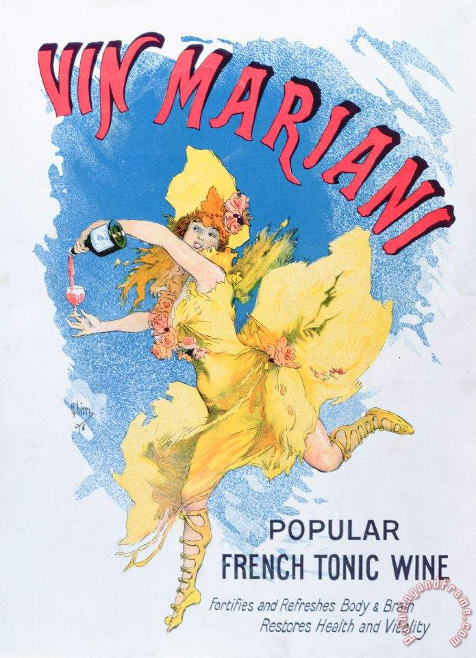 English School Advertisement For Vin Mariani From Theatre Magazine painting  - Advertisement For Vin Mariani From Theatre Magazine print for sale