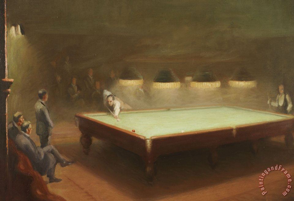 English School Billiard Match at Thurston Art Print