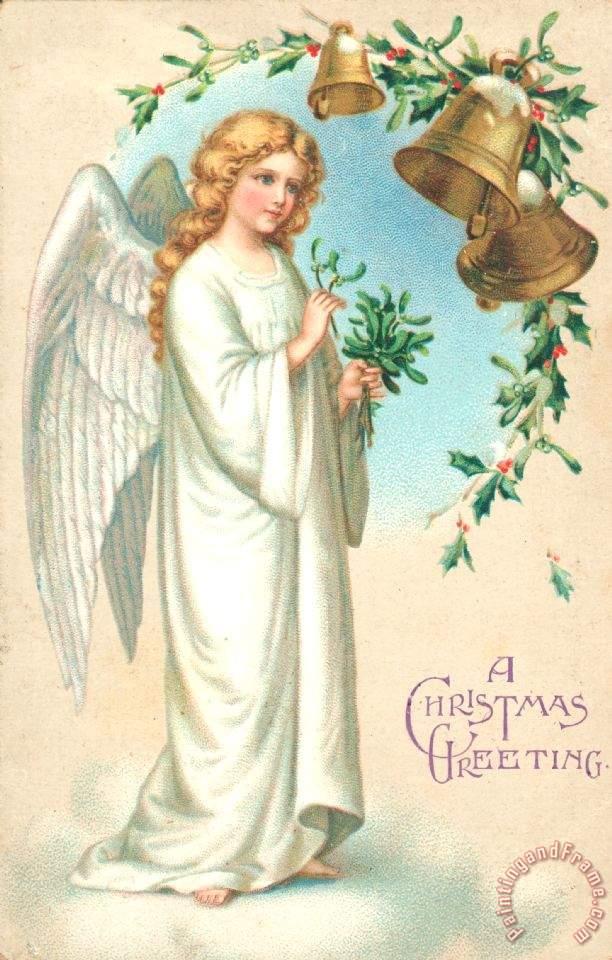 English school christmas angel painting christmas angel for Angel paintings for sale