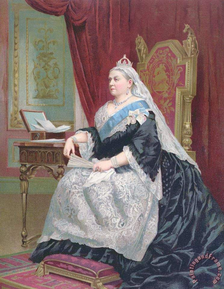 Portrait Of Queen Victoria painting - English School Portrait Of Queen Victoria Art Print