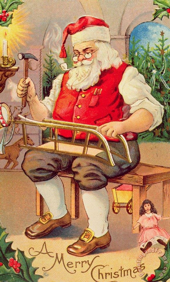 Santa Workshop Posters And Prints
